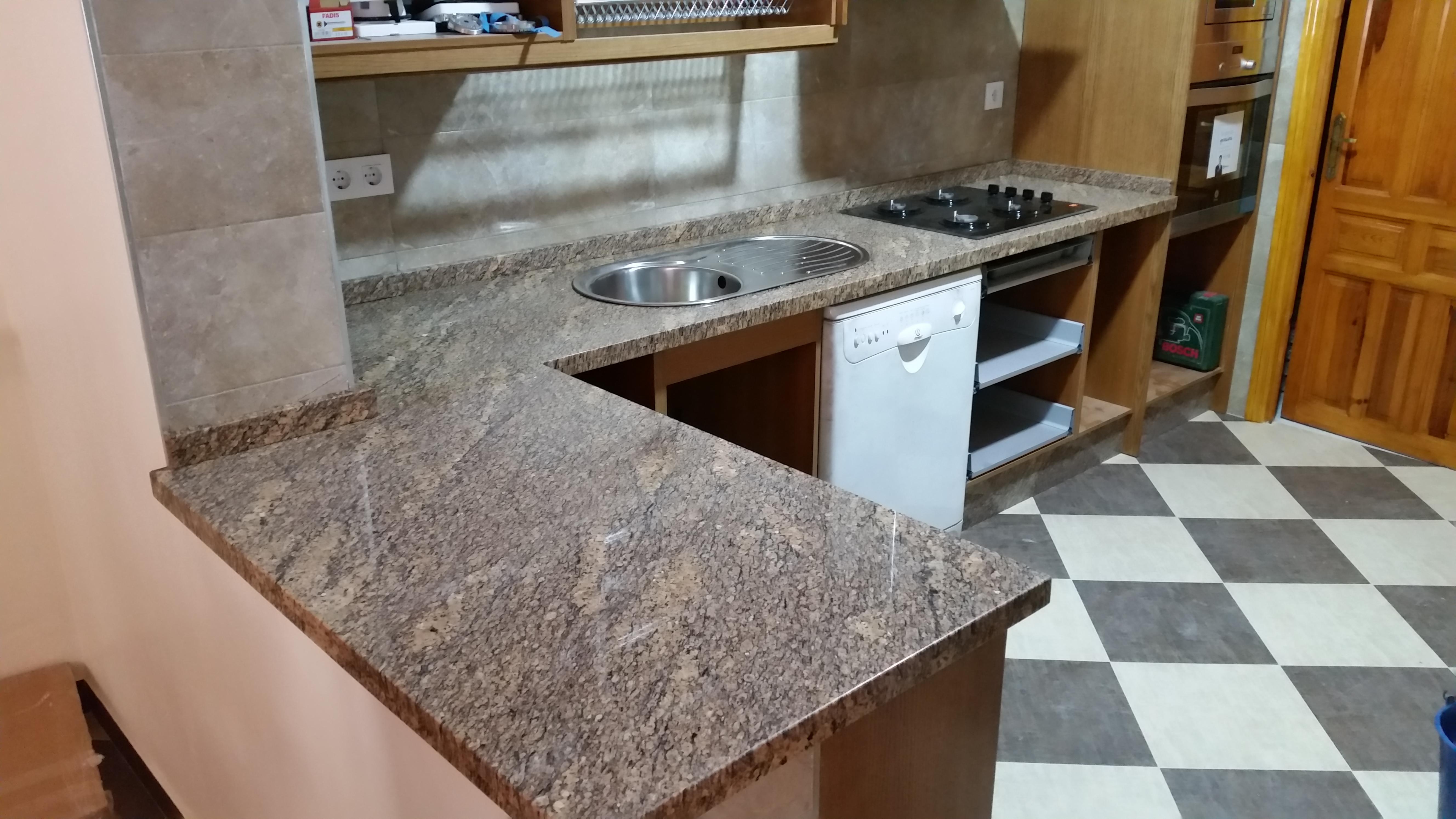 Encimeras de cocina m rmoles y granitos mart n - Marmol y granito ...