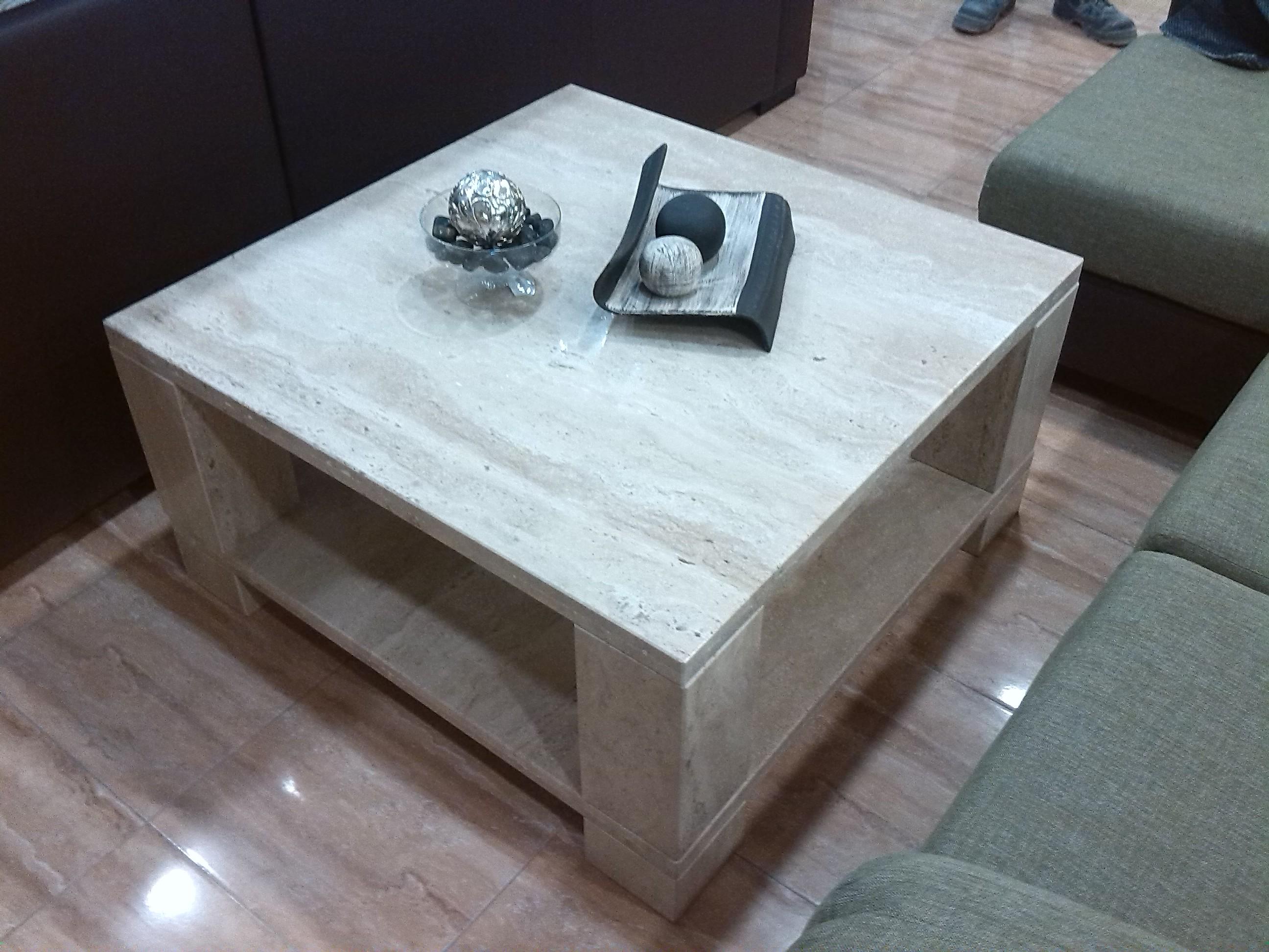Accesorios y decoraci n m rmoles y granitos mart n - Mesa marmol travertino ...