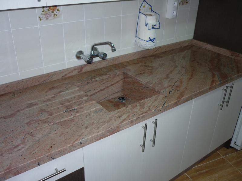 Encimeras de cocina m rmoles y granitos mart n - Materiales de encimeras de cocina ...